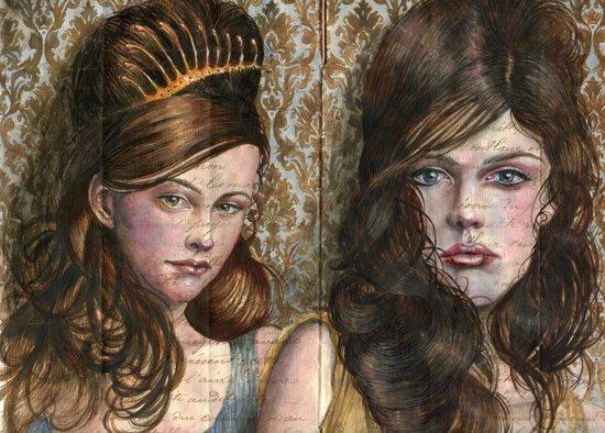 Wallpaper and Dresses Art Print
