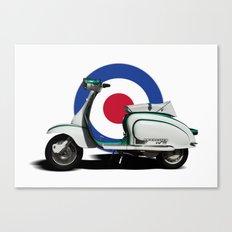 Mod scooter Canvas Print