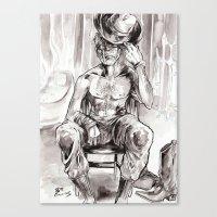 Pin-up Jonah Hex Canvas Print