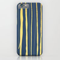 Vertical Living Navy and Gold iPhone 6 Slim Case