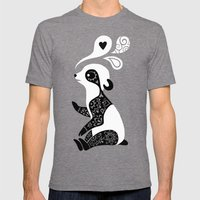 Panda 3 Mens Fitted Tee Tri-Grey SMALL