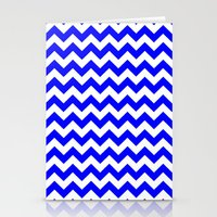 chevron Stationery Cards featuring Chevron (Blue/White) by 10813 Apparel