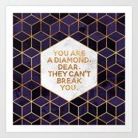 You are a diamond, dear. Art Print
