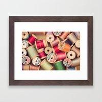 vintage spools Framed Art Print