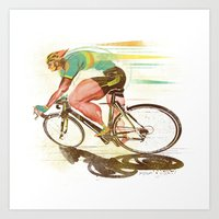 The Sprinter, Cycling Ed… Art Print