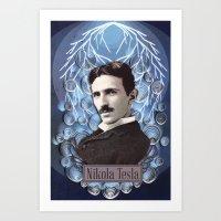 Nikola Tesla Poster - Pa… Art Print