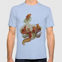 aesop's fable - the fox and his tail Mens Fitted Tee Athletic Blue SMALL