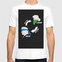 Metal Gear: Solid Liquid… Mens Fitted Tee White SMALL