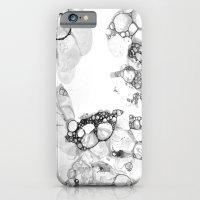 Bubbles Black And White iPhone 6 Slim Case