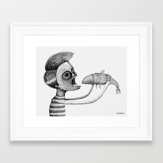 'Hungry' Framed Art Print