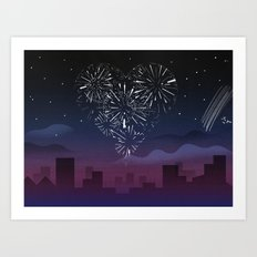 When I first saw you Art Print