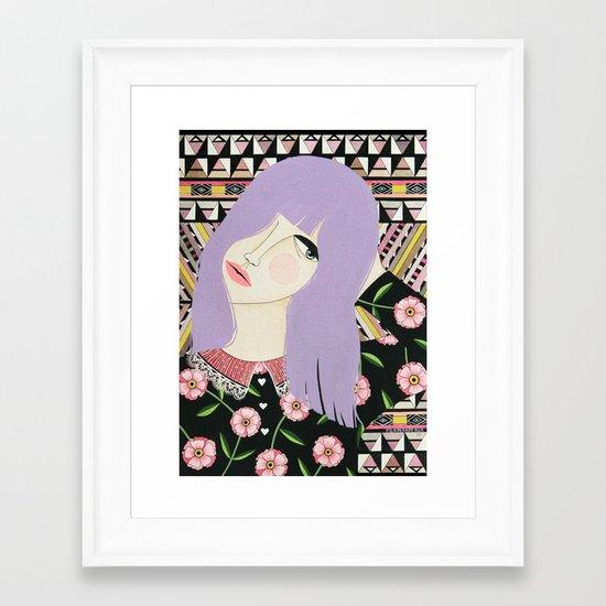 VIOLETA Framed Art Print