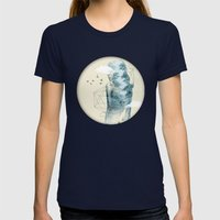 Tree line Facet Womens Fitted Tee Navy SMALL