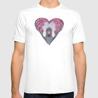 Lovebird Mens Fitted Tee White SMALL
