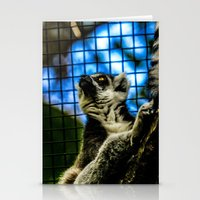 Lemur, bright-eyed and bushy-tailed  Stationery Cards
