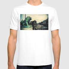 Kyoto temple entrance White Mens Fitted Tee SMALL