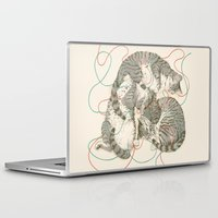 cats Laptop & iPad Skins featuring cats by Laura Graves