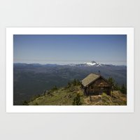 Summit of Black Butte at 6500 ft.  Sisters, OR Art Print