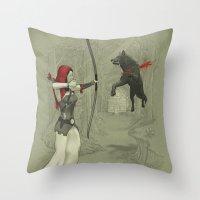 Little Red Robin Hood Throw Pillow