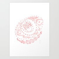 Red Dots Art Print