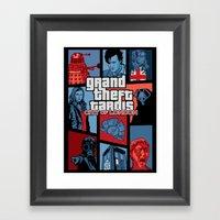 Grand Theft Tardis - Cit… Framed Art Print