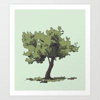 Life is Beautiful Olive Tree Art Print