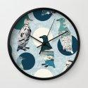 Penguin Polka Wall Clock