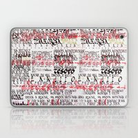 Calligraphic poster Laptop & iPad Skin