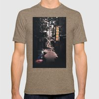 Side street Mens Fitted Tee Tri-Coffee SMALL