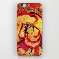 Red Floral iPhone & iPod Skin