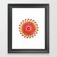 Radial Four Framed Art Print