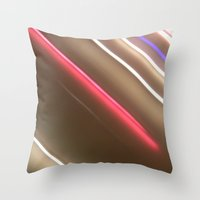 Light Lines. Throw Pillow