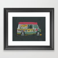 Disappointed Summer Framed Art Print