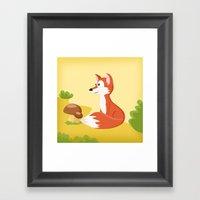 Woodland Animals Serie I. Fox Framed Art Print