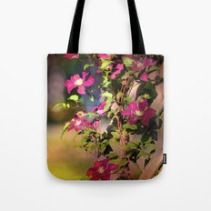 Clematis in Shade  Tote Bag