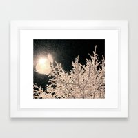 Specks Framed Art Print