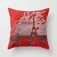 Je Romps Les Habitudes �… Throw Pillow