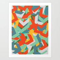 Art Print featuring Chevron by INDUR