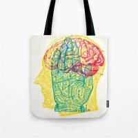 Hand and Brain Tote Bag