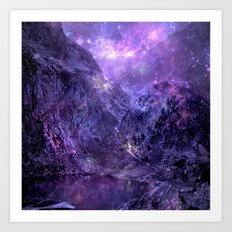Space Mountains Art Print