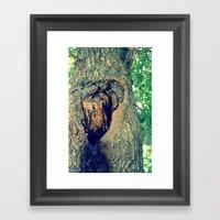 treehole Framed Art Print