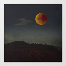 Blood Moon Rising  Canvas Print