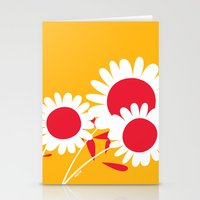 Flowers On Yellow By Fri… Stationery Cards