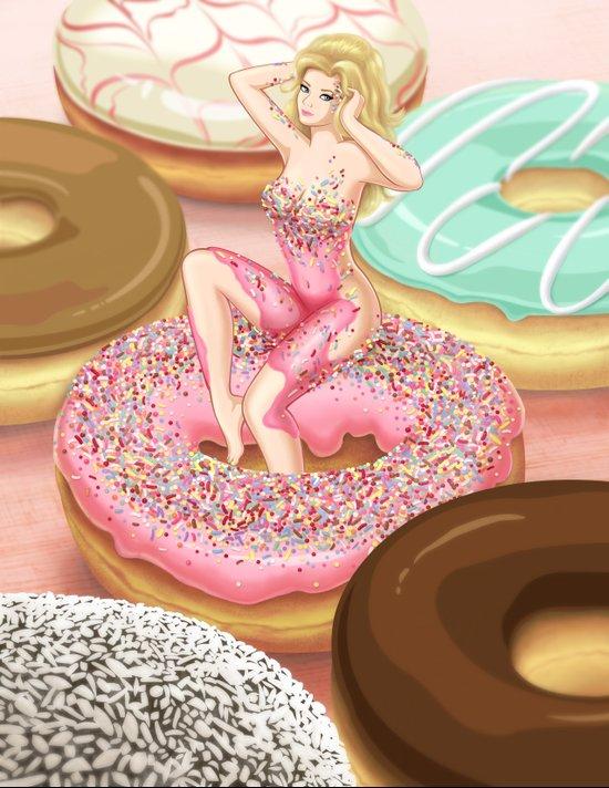 Donut Girl Art Print