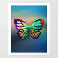 Vivid Butterfly Art Print