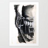 Alien Face. Art Print