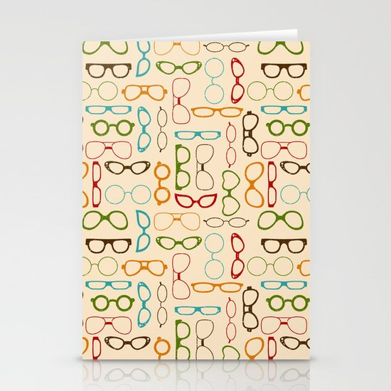 Retro glasses Stationery Card