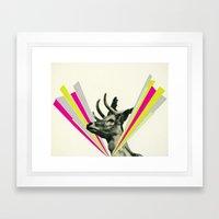 Did I Startle You, Dear? Framed Art Print