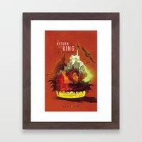 The Return of the King Framed Art Print