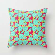 Roses Are Hot Throw Pillow